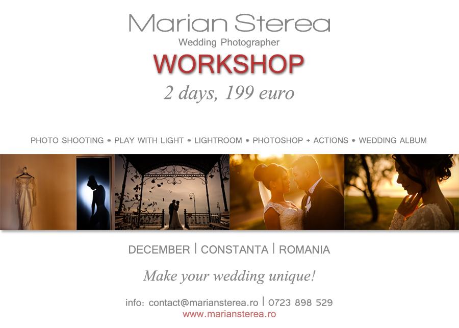 workshop fotografie de nunta constanta