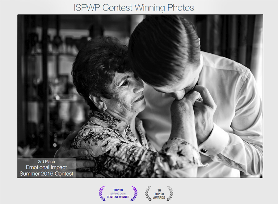 3rd palce at ISPWP - International Society of Professional Wedding Photographers Emotional Impact category SUMMER 2016