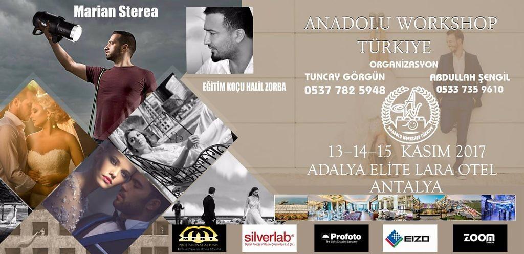 ANADOLU WORKSHOP TURKİYE 13-14-15 noiembrie 2017
