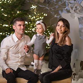 Familie la studio foto