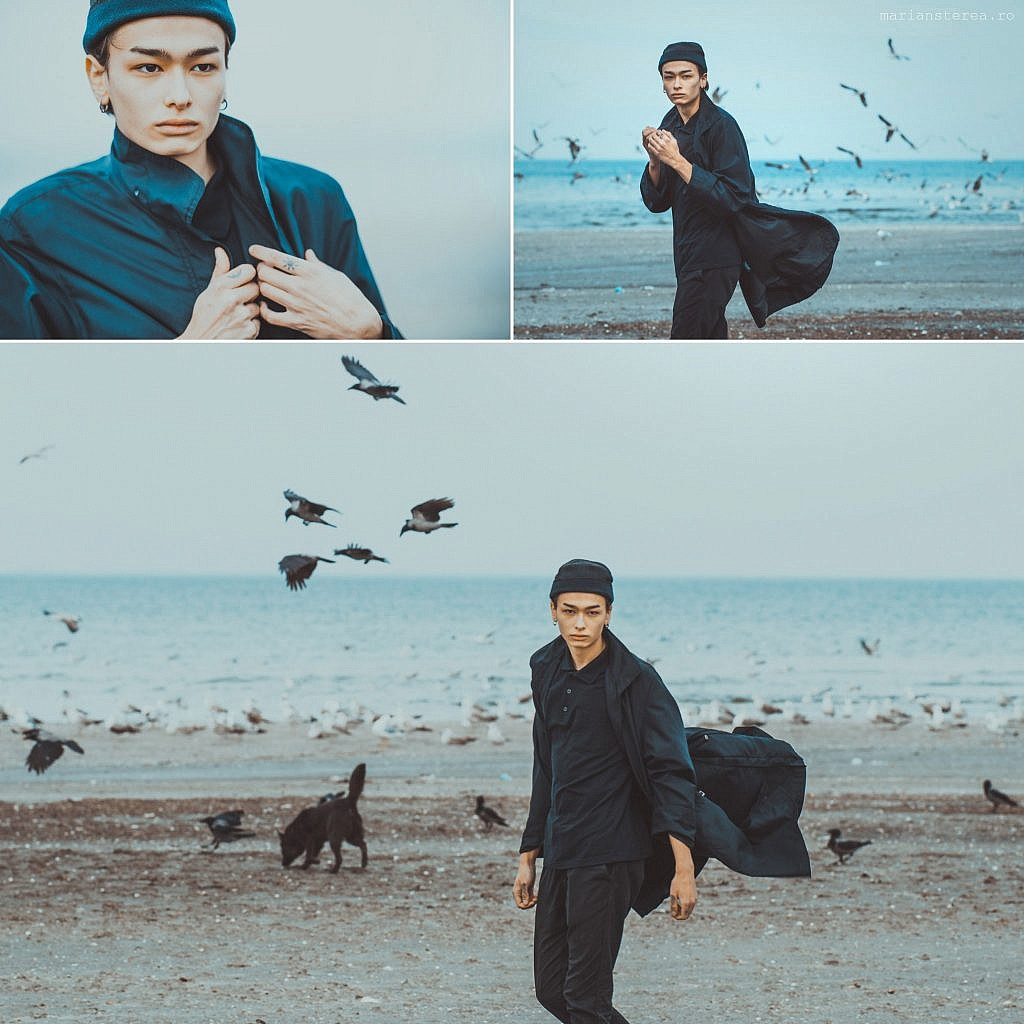 Portret cu omul lup fashion fotografie